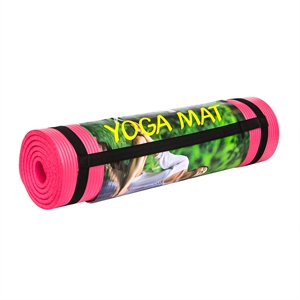 Cosfer 10 mm Pembe Renkli Pilates ve Yoga Minderi
