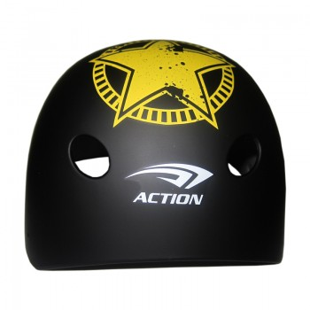 Action MTV-12 Adult Siyah Kask (55-58 CM)