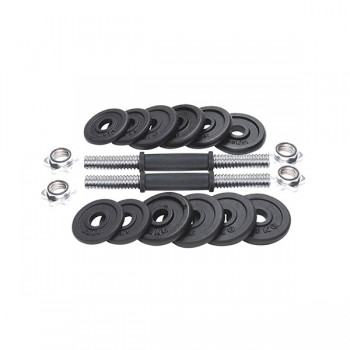VOIT DOKUM DUMBBELL OVAL SET 15KG
